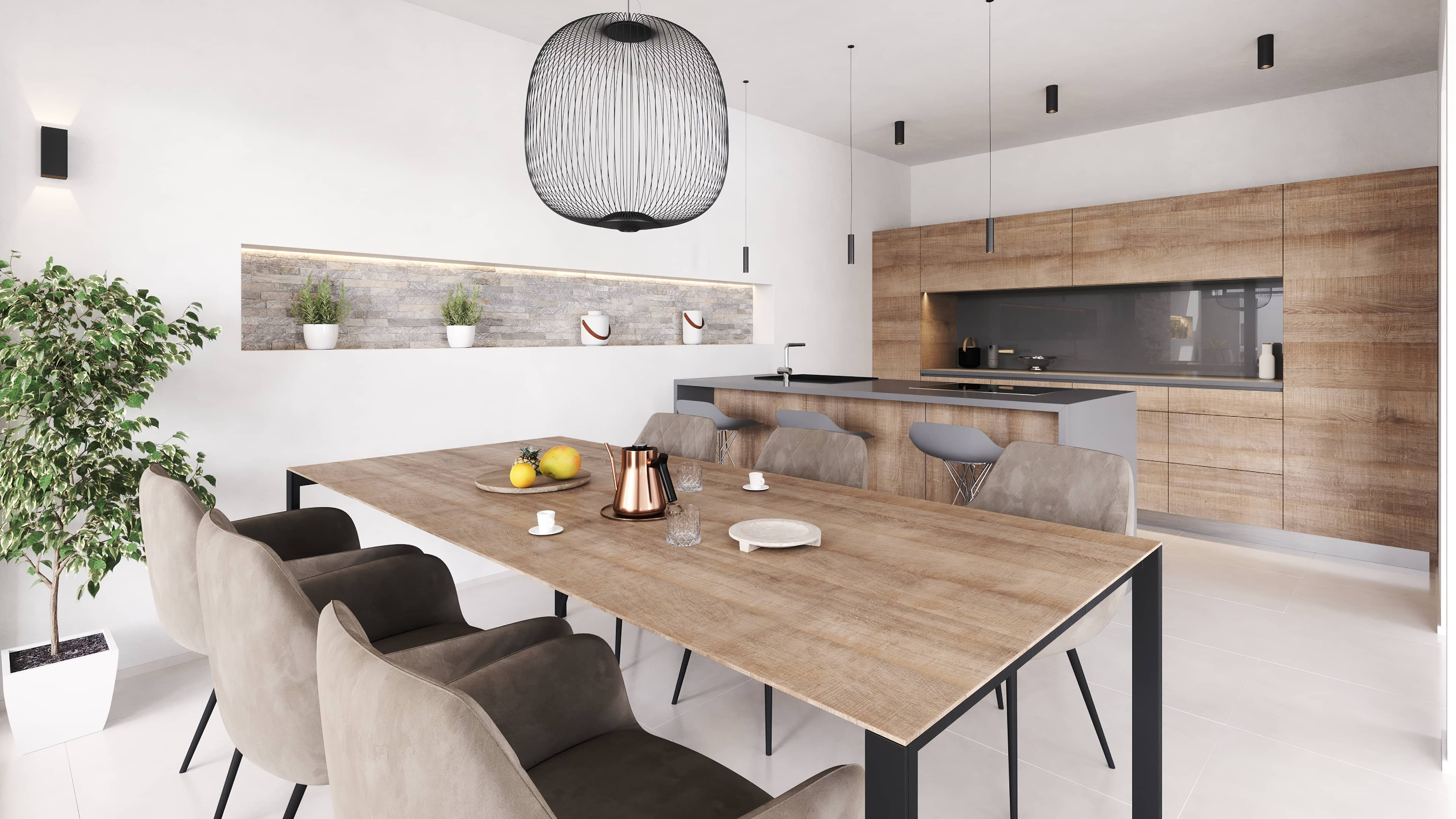 San Lorenzo kitchen render